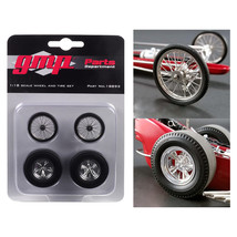 Wheels and Tires Set of 4 pieces from Tommy Ivo's Barnstormer Vintage Dr... - $23.07