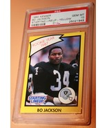 1990 KENNER BO JACKSON Starting Lineup- Yellow PSA GEM 10 - $97.86