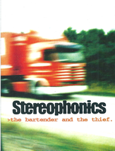 STEREOPHONICS  Rare Promo Flyer/Card - The Bartender And The Thief  1998... - $4.81