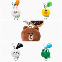 Line Friends Character Face Key Ring 5cm 5 Types Brown Cony Sally Moon Leonard - $14.99