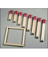 "8"" Pair Standard Stretcher Bars 3/4"" wide pine frame needlepoint cross stitch - $2.40"