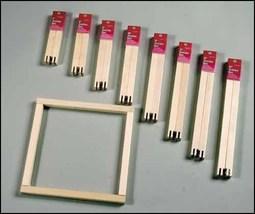 "7"" Pair Standard Stretcher Bars 3/4"" wide pine frame needlepoint cross s... - $2.35"