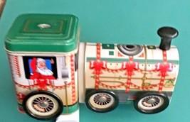 Vintage Santa Clause Tin Train Tin Box Company  38 - $13.86