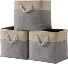 DECOMOMO Foldable Storage Bin [3-Pack] Collapsible Sturdy Cationic Fabri... - £27.68 GBP