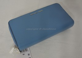 NWT Michael Kors Adele Large Signature Leather Wallet in Sky - Light  Blue - $149.00