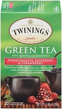 Twinings of London Green Tea Bags, Pomegranate, Raspberry and Strawberry... - $34.32