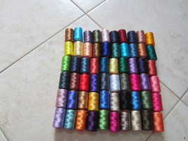 60 MACHINE EMBROIDERY THREAD RAYON ARTIFICIAL S... - $60.99