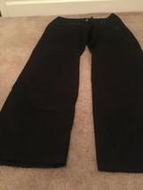 Larry Levine Stretch Women's Casual Stretch Pants Sz 12 Black Bottoms - $51.84