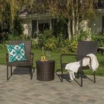 Outdoor Patio Furniture 3 Piece Wicker Garden Backyard Conversation Set ... - $230.27