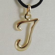 Pendant Yellow Gold 18K With Initial The Letter I Glossy 2,5 Cm With Cord - $67.40