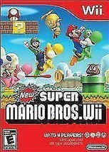 New Super Mario Bros Wii Nintendo Video Game Excellent Condition - $47.49
