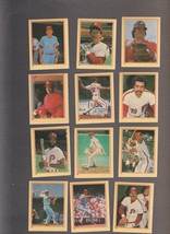 1984 Fleer Star Stickers lot of 12 Phillies Schmidt Rose Carlton NRMT - $2.95