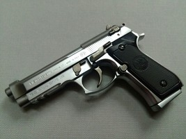 M92F PISTOL, SMALL SIZE DISPLAY MODEL, SILVER COLOR, METAL - $29.99