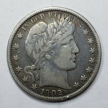 1902 Silver Barber Half Dollar Coin Lot A 192