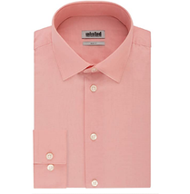 Kenneth Cole Unlisted Men's Dress Shirt in Coral, Size 14 (14.5) 32/33 - $19.79