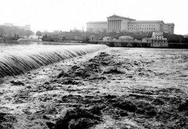 Waterfalls with Art Museum in Distance, Philadelphia, PA by FREE LIBRARY OF PHIL - $19.99+
