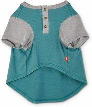 Reddy Teal & Grey Colorblocked Jersey Dog Henley T-Shirt, Extra Large By... - $15.88