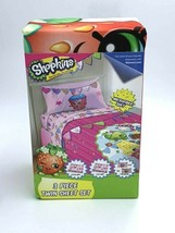 NEW Shopkins Twin Sheet Set Fitted Flat Pillowcase Strawberry Cupcake - $17.99