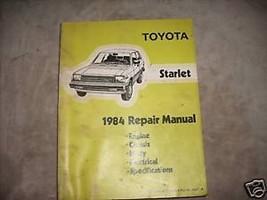 1984 Toyota Starlet Service Shop Repair Workshop Manual Factory OEM Book - $26.98