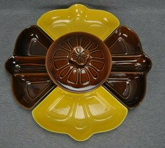 Calif USA L42 Chip Vegetable Dip 6 Piece Set Brown Yellow - $35.00
