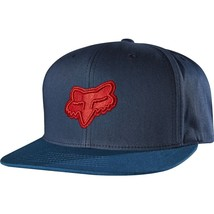 "Men's Fox ""blocked"" Snapback Adjustable Hat Cap One Size In Indigo - $29.95"