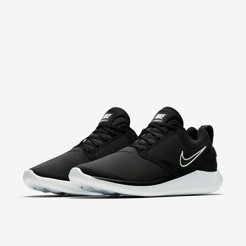Nike Lunarsolo Mens Running Shoes AA4079-001 Black/White Sneakers Sz 10 10.5 11