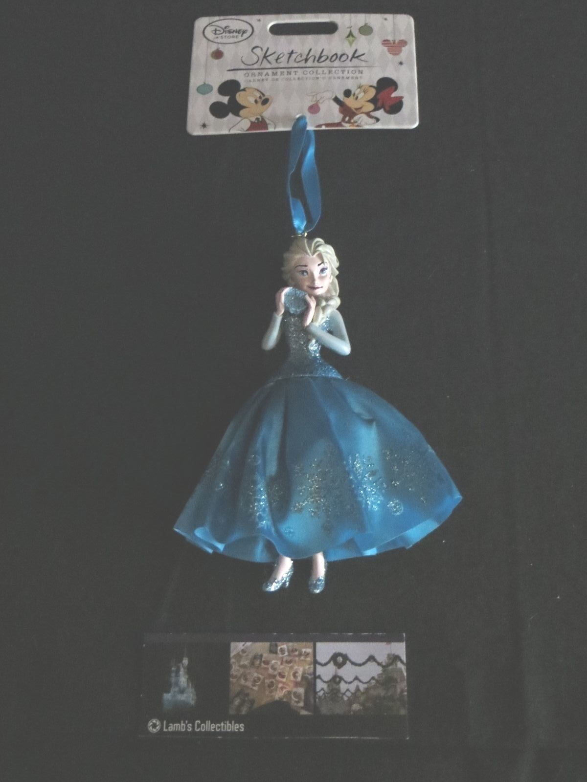 Primary image for Disney Store Authentic Frozen Elsa 2014 Sketchbook Christmas Ornament Figure