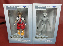 Disney Kingdom Hearts Dusk And Limit Form Sora Action Figures New In Boxes - $25.90