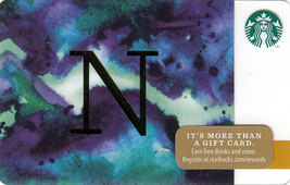 Starbucks 2014 Monogram N Collectible Gift Card New No Value - $3.99