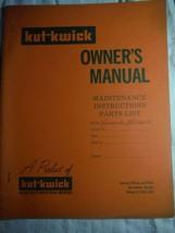 Kut-Kwick JV1000-31 JV1600-31 lawn tractor manual orig owner's parts manual rare - $16.41