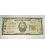 1929 $20.00 National Bank Note Washington Court House, OH Low Serial # V... - $163.44