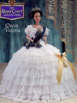 Queen Victoria Outfit for Barbie Doll Annie's Attic Royal Court Pattern Leaflet - $5.37