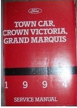1994 Ford Crown Victoria Grand Marquis Lincoln Town Car Service Shop Man... - $79.10