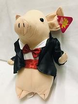 "SUGARLOAF 12"" Plush Pig in A Tuxedo with Red Bow Tie Formal Swine Rare H... - $19.99"