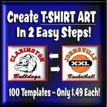 Vector T-Shirt Design Templates - Printing  Software  Logo Maker USB  NEW - $49.99
