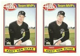 (2) 1989 Topps Hills Team MVP's Baseball #30 Andy Van Slyke Card Lot Pir... - $2.99