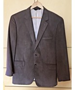 Joseph A. Bank Grayish Olive Micropoly Suede 2 Button Sport Coat (42R) - $32.73