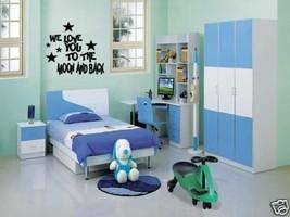 LOVE YOU TO THE MOON Wall Art Decal Nursery Kids Room - $12.82