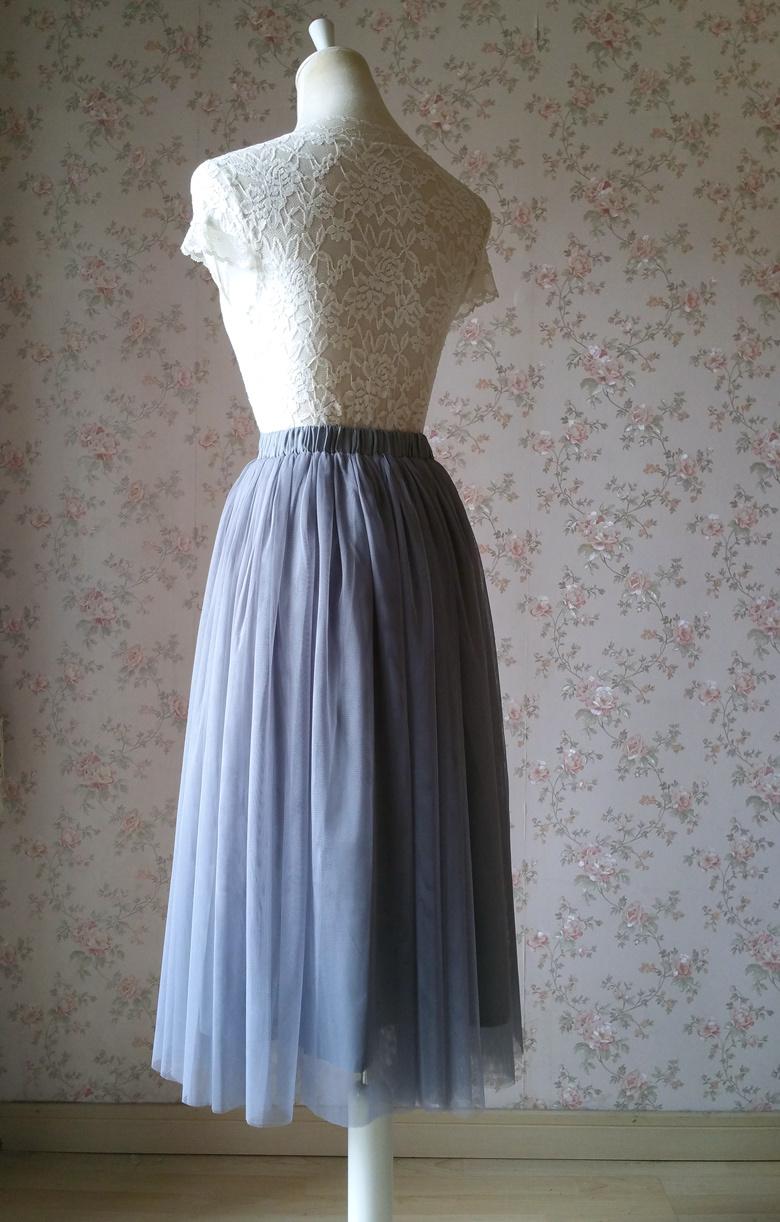 Gray midi skirt 780 4