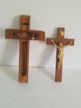 "14"" HANDMADE INRI WOODEN DIVINITY CRUCIFIX.CHECK PHOTOS. *A3* - $18.69"