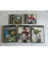 5 Golf Games Lot Playstation 1 2 PS1 PS2 Hot Shots 2 Fore! Tiger Woods 9... - $19.99