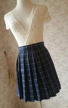 NAVY Blue PLAID Skirt Pleated Plaid Skirt School Mini Plaid Skirt US0-US16 image 1