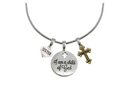 Custom I Am a Child of God Family Charms Silver Snake Chain Necklace Jewelry - $14.87