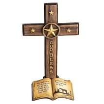 Western Tabletop Cross with Star Accents - $45.00