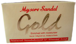 4 Bars 125g Mysore Gold Sandalwood & Almond Soap Aroma Therapy - $14.95