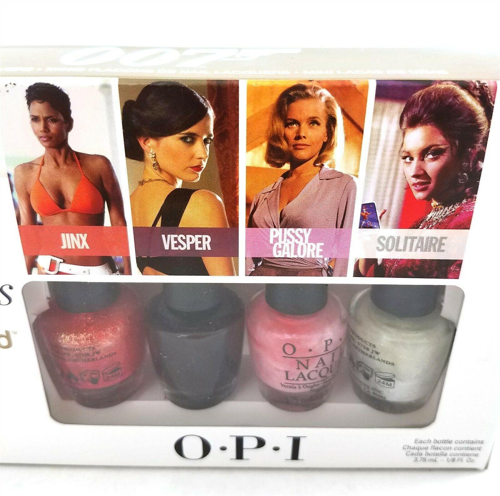 OPI 007 The Bond Girls Liquid Sand Mini Nail Polishes Set Of 4 1/8 fl oz image 2
