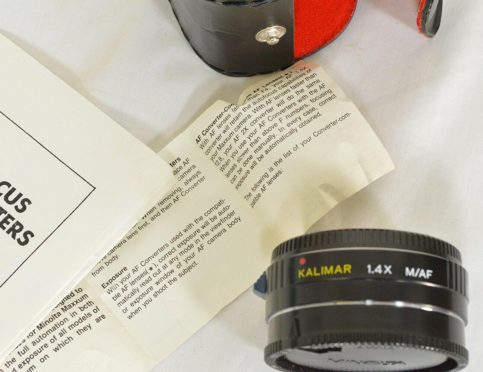 Kalimar 1.4 X M/AF Tele Converter Auto Focus camera lens w/ case & instructions image 10
