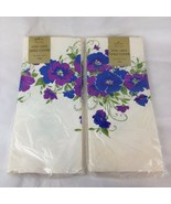 Lot Pair 2 NEW Sealed VTG Hallmark Paper Tablecloth 60X102 Groovy Retro ... - $18.12