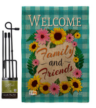 Welcome Family and Friends Burlap - Impressions Decorative Metal Garden ... - $33.97