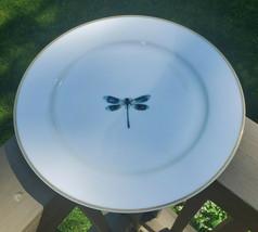 Gilitzer Porzellan Manufaktur Germany Blue Dragonfly Bone China Dinner P... - $49.45